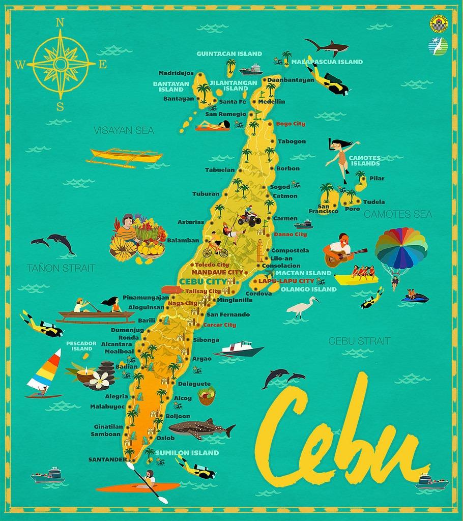 Cebu Tourist Map Eat Chill Wander